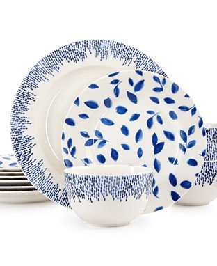 Martha Stewart Collection Stockholm Dinnerware Collection 12-Pc. Set, Service for 4 (Dinnerware Martha Stewart)