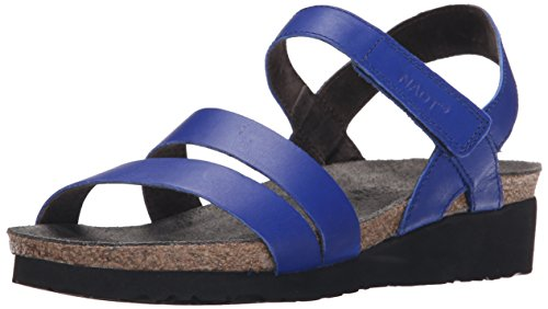 Naot Footwear Women's Kayla Sandal Royal Blue Leather 38 M -