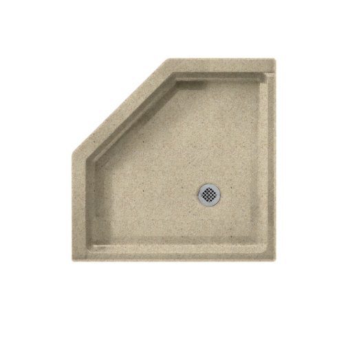 Swanstone SS-38NEO-122 Solid Surface Neo-angle Shower Base, 38-in L X 38-in H X 5.5-in H, Prairie