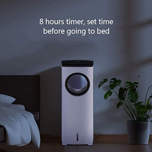 WHA bladloze ventilator, super stil, negatieve ionen, veiligheidsluchtkoeler, bladloze ventilator, vloerstaande afstandsbediening torenventilator voor thuis, kantoor, slaapkamer SEYXZXTm