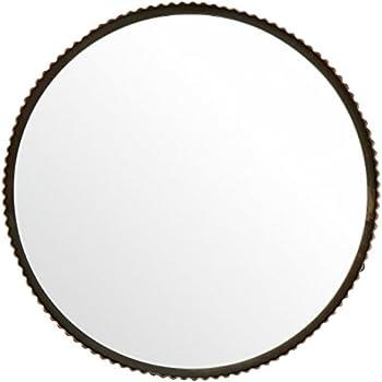 Amazon.com: Rustic Black Iron Oval Wall Mirror   Vanity