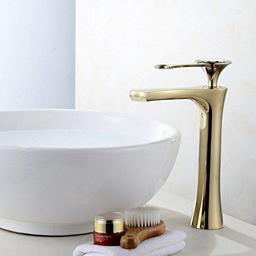 Lalaky Badezimmer Wasserhahn Küche Wasserhahn Spültischarmatur Spülbecken Waschtischarmatur Mischbatterie Kupfer Heißes Und Kaltes WassermischerGold Für Badezimmer Und Küchen