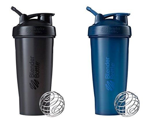 28 Oz. Blender Bottle W/wire Shaker Ball- Pack of 2, Black/b