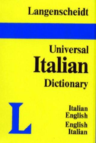 Langenscheidt's Universal Dictionary Italian-English English Italian: English-Italian Italian-English