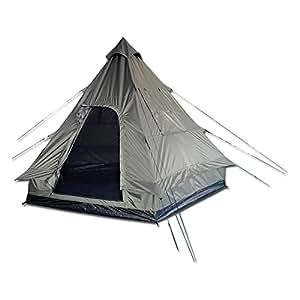 Mil-Tec Tipi - Tienda de campaña para 4 personas, diseño pirámide, color verde