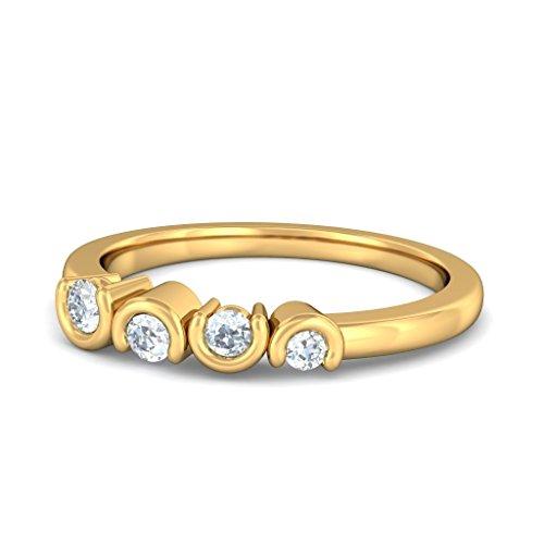 14K Or jaune, 0,15carat Diamant Blanc (IJ | SI) en diamant