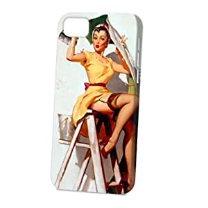 TYHde Case Fun Apple ipod Touch4 Case - Vogue Version - 3D Full Wrap - Help Wanted Pin Up Girl ending