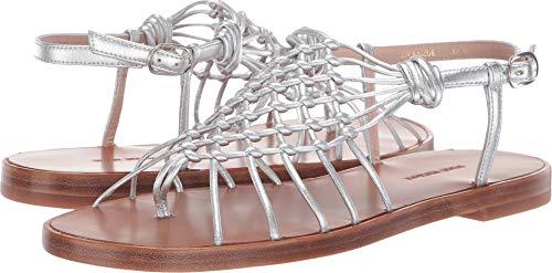 Stuart Weitzman Women's Seaside Silver Metallic Nappa 8 M US