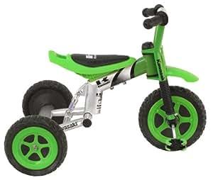 Kawasaki Tricycle, 10 inch Wheels, suspension forks, Boy's Trike, Green