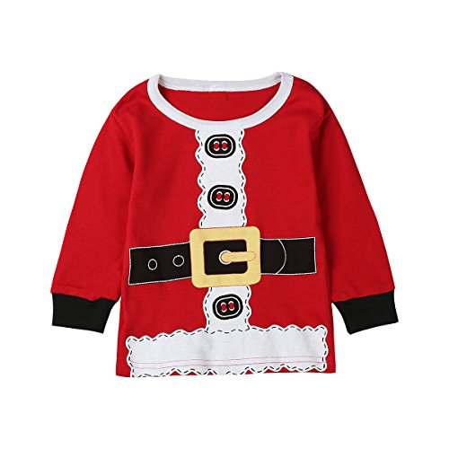 Paddy Field 3PCS Baby Boys Girls Christmas Santa Claus Costume Pajama Outfit Clothes Set