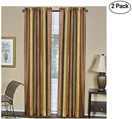 Achim Home Furnishings Ombre Window Panel, 50-Inch by 84-Inch, Autumn Set of 2