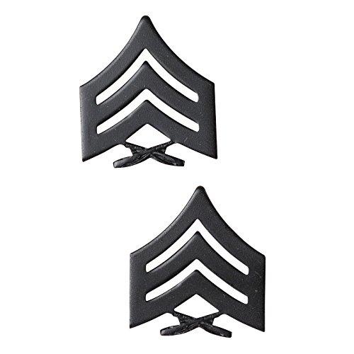 USMC Black Enlisted Rank Insignia (Sgt)