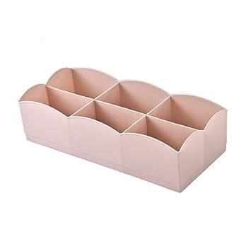 Sujetador De La Ropa Interior Organizador Del Cajón Multifunción Acabado Material PP Calcetines Caja De Almacenamiento De Ropa Interior,Pink: Amazon.es: ...