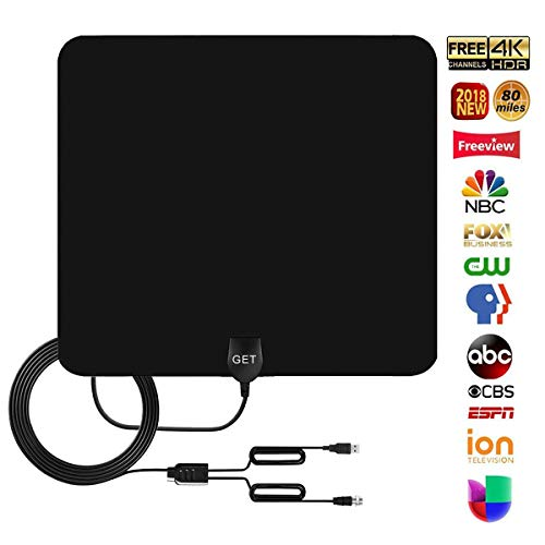 Fantastic Deal! GET Amplified Digital HDTV Antenna 50~75 Mile Long Reception Range 13.2ft High Recep...