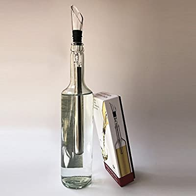 Canyoze 3-in-1 Stainless Steel Wine Chiller Stick with Aerator and Pourer Decanter
