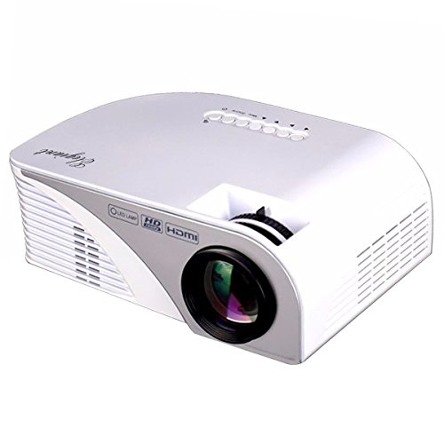 Portable projector elegiant lcd 1200 lumens led mini for Small projector with high lumens