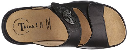 Think Black Sandals Slide Womens Cambio Leather 1wqr14O