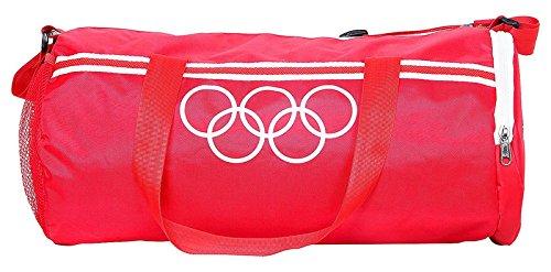 Polestar 18 Litros Mochila con cuerdas resistentes de agua Viajes Deportes Gimnasio barril Bolsas rojo