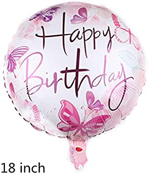 New Large Butterfly Foil Balloon for Baby Shower Kids Girl Birthday Jungle Party Decoration Inflatable Air Balloon Animal Globos,Purple