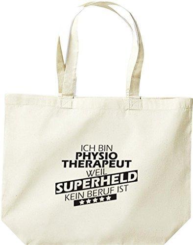 Shirtstown große Bolsa de compra, Estoy Fisioterapeuta, weil Superheld sin Trabajo ist natural