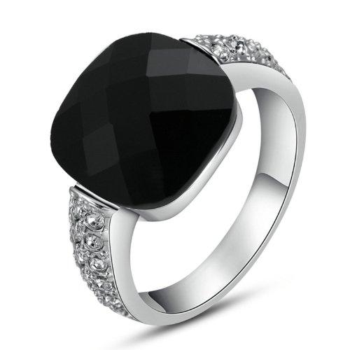 Yoursfs Signet Little Finger Rings for Men Cool Onyx Opal Ring Mens 18ct...