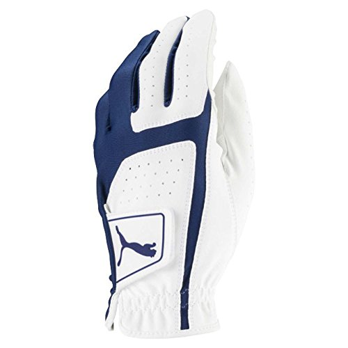 Puma Golf 2018 Mens Flexlite Golf Glove (Bright White-Monaco Blue, Med/Large, Left Hand)