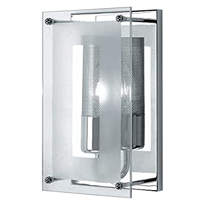 Lite Source LS-1385 Contemporary / Modern Wall Washer Sconce from the Wick Collection,