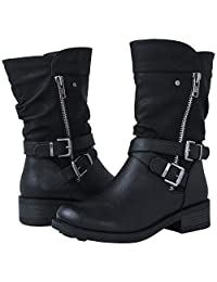 GLBALWIN Women's 18YY05 Black Fashion boots7M