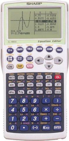 シャープ ピタゴラス グラフィック関数電卓 リバーシブルキーボード搭載 473関数機能 10桁 EL-9900 B00084YCMA