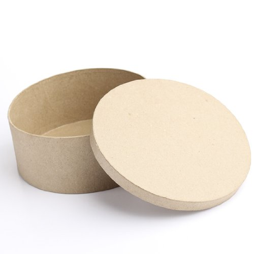 Factory Direct Craft Package of 6 Paper Mache Round Boxes Ready to Personalize and Display for Crafting Projects by Factory Direct Craft