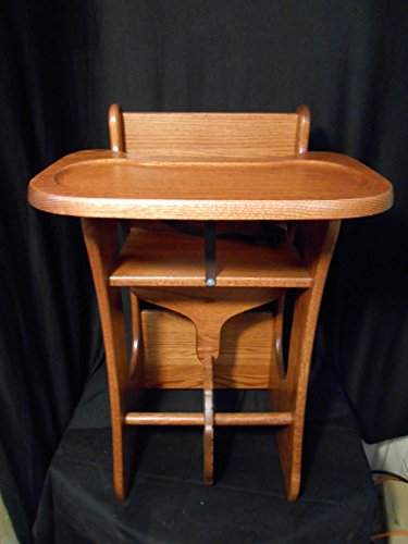 3 in 1 Combo Highchair w/Tray, Rocker, Desk Solid Oak Kids Toy Harvest Stain by Amish Crafted