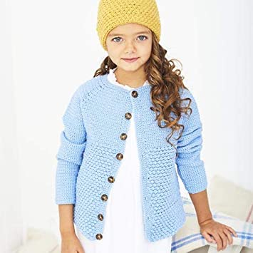 Bambino Dk Pattern 9610 Crochet Cardigan And Hat 41 66cm 16 26in