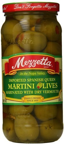 Mezzetta - Imported Spanish Queen Martini Olives in Dry Vermouth, (2)- 10 oz. Jars by Mezzetta