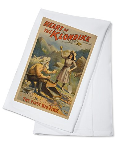 heart-of-the-klondike-gold-mining-theatre-poster-1-100-cotton-absorbent-kitchen-towel
