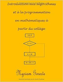 Book Introduction aux algorithmes et à la programmation en mathématiques à partir du collège