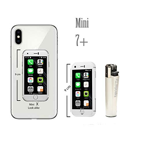 Mini Smartphone iLight 7+ The World's Smallest 7S Android Mobile Phone, Super Small Tiny Micro 2.4″ Touch Screen Global Unlocked Great for Kids 1GB RAM / 8GB ROM Tiny iPhone 7Plus Look Alike