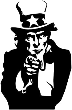 United States Uncle Sam image Decal Sticker