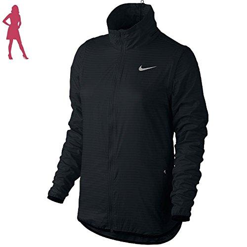Womens Convertible Wind Jacket (Nike Golf Women's Flight Convertible Jacket (Black/Metallic Silver))
