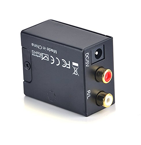 Digital to Analog Audio Converter Adapter Coaxial Coax Optical Toslink RCA L/R US Plug for HD DVD PS4 Home Cinema Systems AV Amps (US Stock) by PEATAO