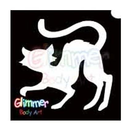 Glimmer Body Art Glitter - Plantillas para tatuaje, diseño de gato ...