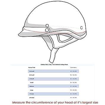 X-Small Outlaw T70 DOT 3D American Flag Half Face Helmet with Visor