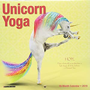 Unicorn Yoga Mini 2019 Wall Calendar