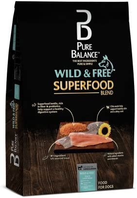 Pure Balance Superfood Blend Trout Lentil Recipe Dry Dog Food