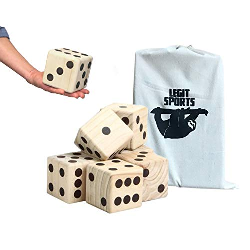 Giant Yard Dice for Yard Game and Any Lawn Dice Yard Game