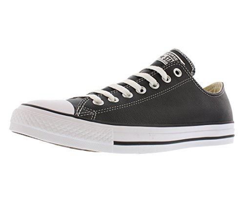 (Converse Chuck Taylor All Star Leather Low Top Sneaker, Black, 7.5 M US)