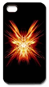 iphone 4 case cheap Red abstract N001 PC Black for Apple iPhone 4/4S