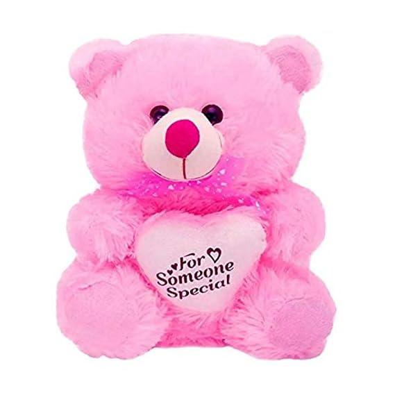 Agnolia for Someone Special Heart Stuffed Soft Plush Toy Kids Cute Teddy Bear (Purple)- 30cm