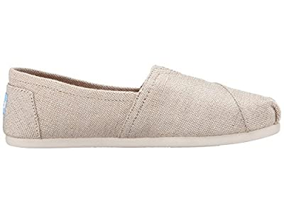 Toms Women's 10008015 Metallic Burlap Alpargata Flat, Natural, 7.5 M US