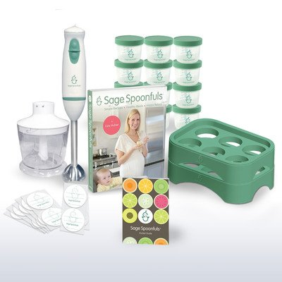 Baby Food Maker 19 Pc Starter Kit - Includes Immersion Blender, Food Processor, Storage Jars, Trays, Recipe Book, & More by Sage Spoonfuls that we recomend personally.