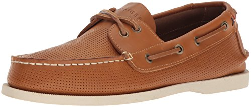 Tommy Hilfiger Men's Bowman Boat Shoe, tan, 9 Medium US from Tommy Hilfiger